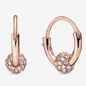 🔥Pandora🔥 Pavé Bead Hoop Earrings